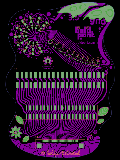 How is that for a funky PCB layout?