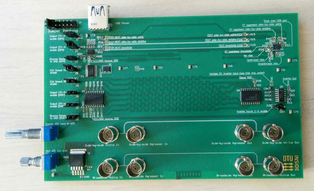 The board used to demo how to use the network analyzer as a TDR